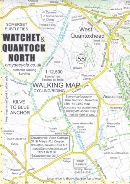Watchet & Quantock North Map